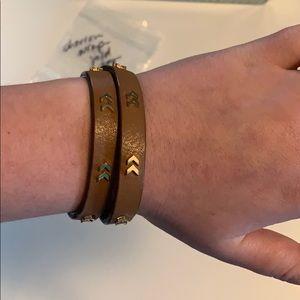 Chevron wrap gold Stella and dot bracelet